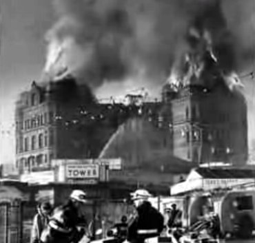 The New Brighton Tower Fire 1968