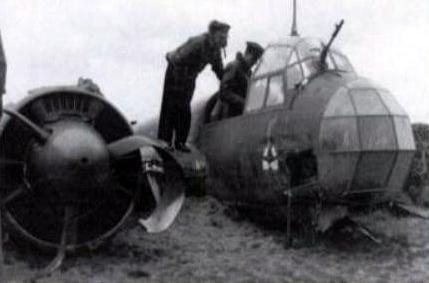 The RAF examine the downed Ju88 at the crash site