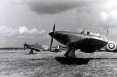 2 of the 3 Hurricanes which participated in the defence