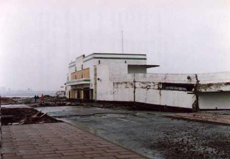 Derby Pool after storm damage in the 1970s.