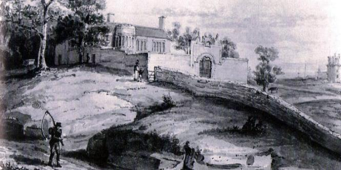 A Painting of Bidston Hall in 1816 by Edward Goodall