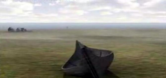 The lost Viking Clinker in a Marsh -From ITV's